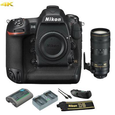 Nikon D5 DSLR Camera Body (Dual XQD Slots) w/ 70-200mm 2.8E Lens Kit