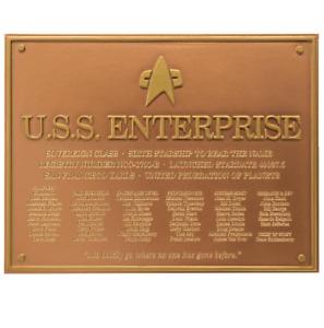 U-S-S-Enterprise-NCC-1701-E-Star-Trek-Plakette-Dedication-Plaque-Replica-Neue