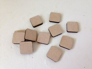 50 x scrabble tiles plain mdf blank 2cms square decopage