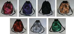 Gothic Spider Web Satin & Lace Dolly Evening Handbag / Purse Halloween Costume