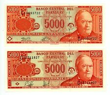 Paraguay ... P-220a,b ... 50000 Guaranies ... 2000-2003 ... *UNC* ... Pair