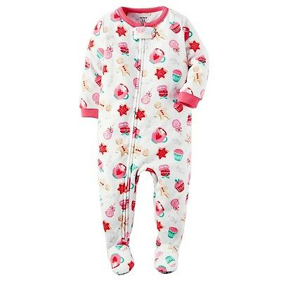 NWT ☀FOOTED FLEECE☀ CARTERS Girls Pajamas New 3T