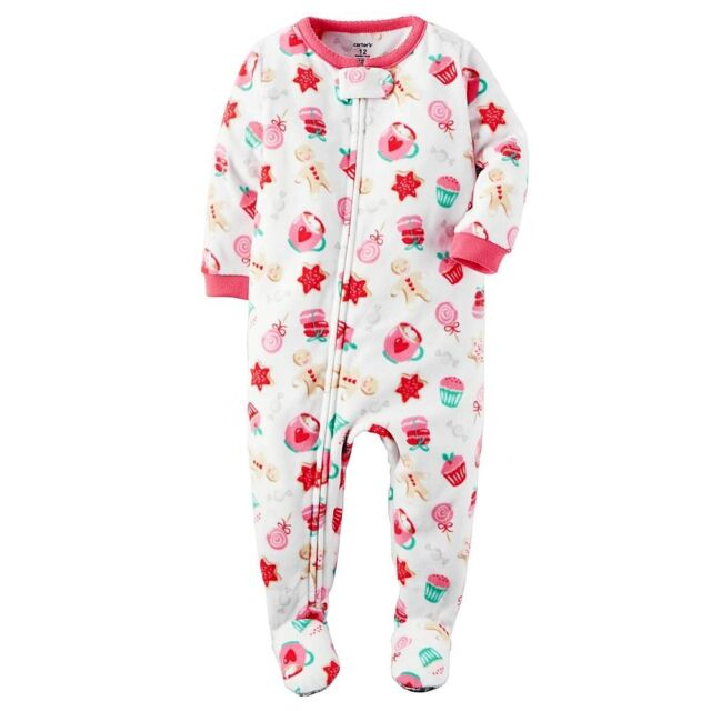 7aafb4fcaf5b Footed Fleece Carters Girls Sweets Pajamas You Pick 24m 2t 4t 24 Months