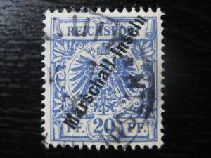 MARSHALL-INSELN-GERMAN-COLONY-Mi-4II-scarce-used-stamp-CV-85-00
