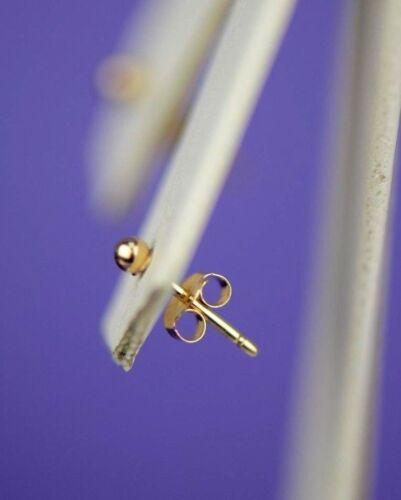 14k Yellow Gold Ball Stud Earrings y