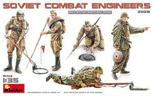 Miniart-1-3-5-Scala-Modello-Figures-Soviet-Combat-Ingegneri-MIN35091