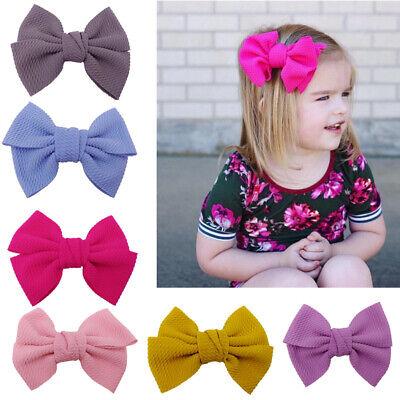 NE/_ BABY GIRL KIDS TODDLER FLOWER RABBIT EAR HEADBAND HAIR BAND BOW HEADWEAR N