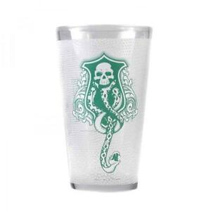 OFFICIAL HARRY POTTER VOLDEMORT LARGE DRINKING GLASS TUMBLER NEW IN GIFT BOX