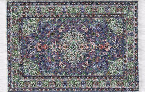 Escala 1:12 10 cm X 15.5 cm alfombra turca de tejido tumdee Casa De Muñecas Pequeña Alfombra P7s