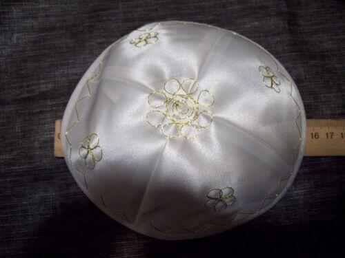Jarmulke Kippa Kippah,Kipa weiß 16-17cm
