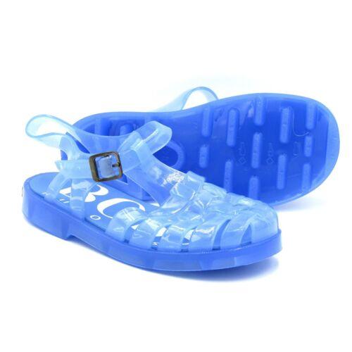 HUGO BOSS BABY BOYS GIRLS LIGHT BLUE JELLY LOGO SANDALS J09095//849