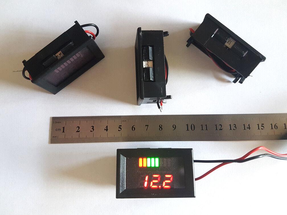 12V Battery Capacity Charge Level Indicator Meter Voltmeter