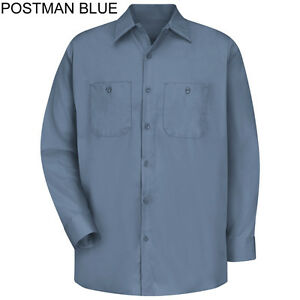 d53b65da Brand New Red Kap SC10 Long Sleeve 100% Cotton Blue Work Shirt Size ...