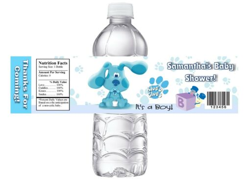 10 BLUES CLUES BLUE/'S CUSTOM BABY SHOWER FAVORS WATER BOTTLE LABELS WRAPPERS