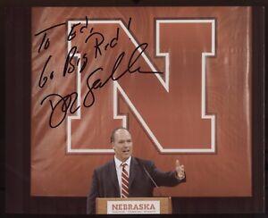 Doc Sadler Signed 8x10 Photo College NCAA Football Coach Autograph Nebraska