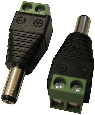 [NEW] 5.5 x 2.5mm CCTV DC Power Male Jack Plug Connector Tip