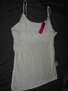 16ca76c55 Cami tops Gray built in bra adjustable straps Choice size New ...