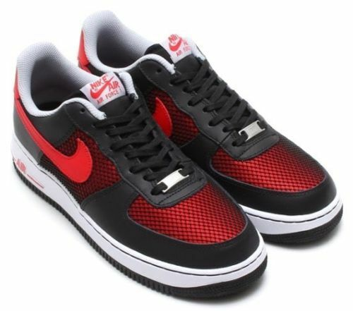 Nike Men's AIR FORCE 1 shoes NEW AUTHENTIC Black Red 488298-062 Size 6