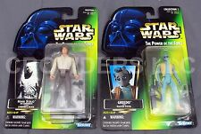 Star Wars PotF Han Solo in Carbonite Greedo Action Figure Green Cardback Kenner