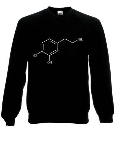 Joy Compound The Neurotransmitter Dopamine Molecule Jumper Sweater Pullover AI28