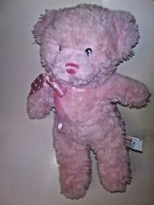 Aurora-Baby-Pink-Bear-With-Sewn-Eyes-13-034-Plush-Stuffed-Animal