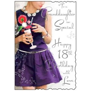 Special Granddaughter 18th 18 Birthday Card ~ Luxury Card ~ Lovely Verse JJ