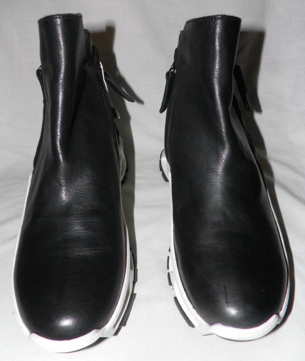 CINZIA ARAIA BLACK LEATHER ANKLE SNEAKER BOOTS Sz. Sz. Sz. 38 45301d