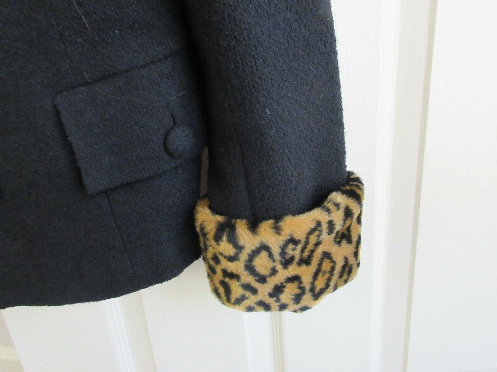A-B-S , USA , Ladies Jacket ,Size 8 , Black ,Leopard Co