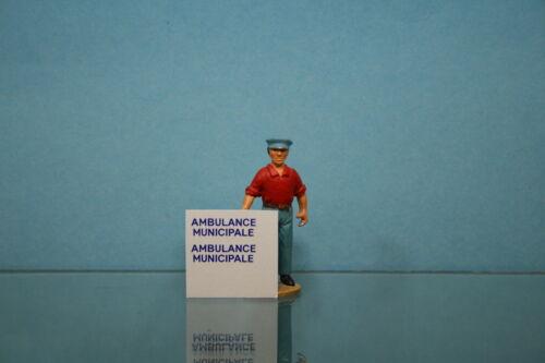 Dec070-decalcomanie for id break ambulance municipale dinky toys ref 556