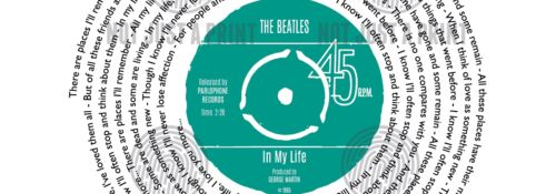 The Beatles In My Life Personalised Song Print VINYL RECORD Valentines Day Gift