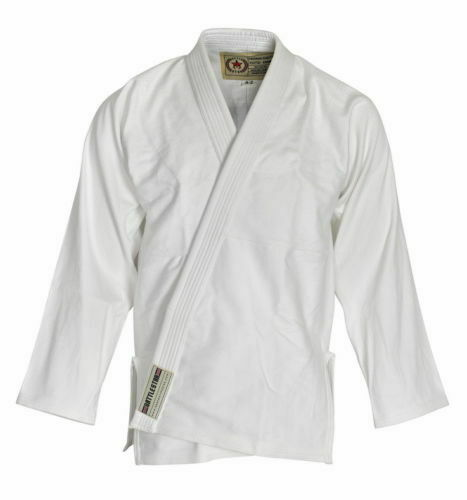 White BJJ Adult GI Pearlweave// Ripstop Brazilian Jiu-jitsu Free Belt /& Backpack
