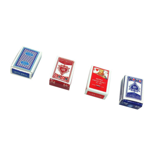4Sets Games Poker Playing Card 1:12 Miniature Dollhouse Accessory Decoration