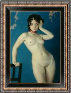 Original-Oil-Painting-female-art-Chinese-nude-girl-on-canvas-24-034-x36-034