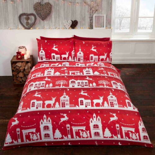 Rapport Reindeer Road 100% Brushed Cotton Flannelette Duvet Cover Bedding Set