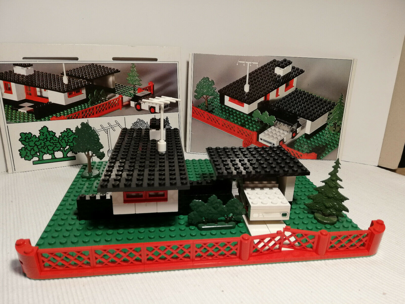 LEGO Set 345 Bungalow mit Auto  60er Jahre original Bäume