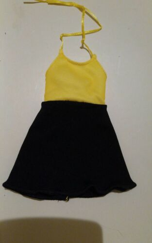 BLACK /& YELLOW Dress for Curvy fashionista BARBIE body