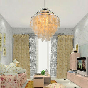 Image Is Loading Large Capiz Shell White Ceiling Light Shade Lampshade  Part 92