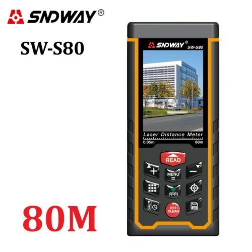 SNDWAY® Laser 80M120M Distance Meter 400ft Handheld Range Finder Tape Device