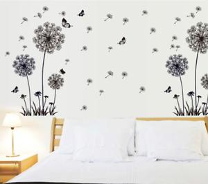 Wandtattoo Wandaufkleber Sticker Pusteblume Schmetterlinge Schlafzimmer DIY