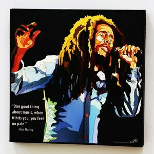 Image Is Loading Bob Marley Canvas Quotes Wall Decals Photo Painting