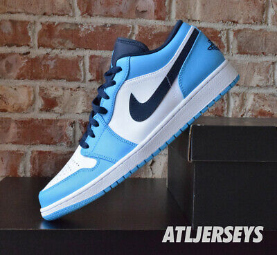 Nike Air Jordan 1 Low UNC White Powder Blue Obsidian 553558-144   eBay