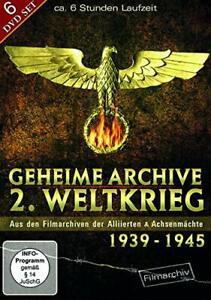 Archivi segreti 2. guerra mondiale 1939-1945 - History film 6 DVD NUOVO