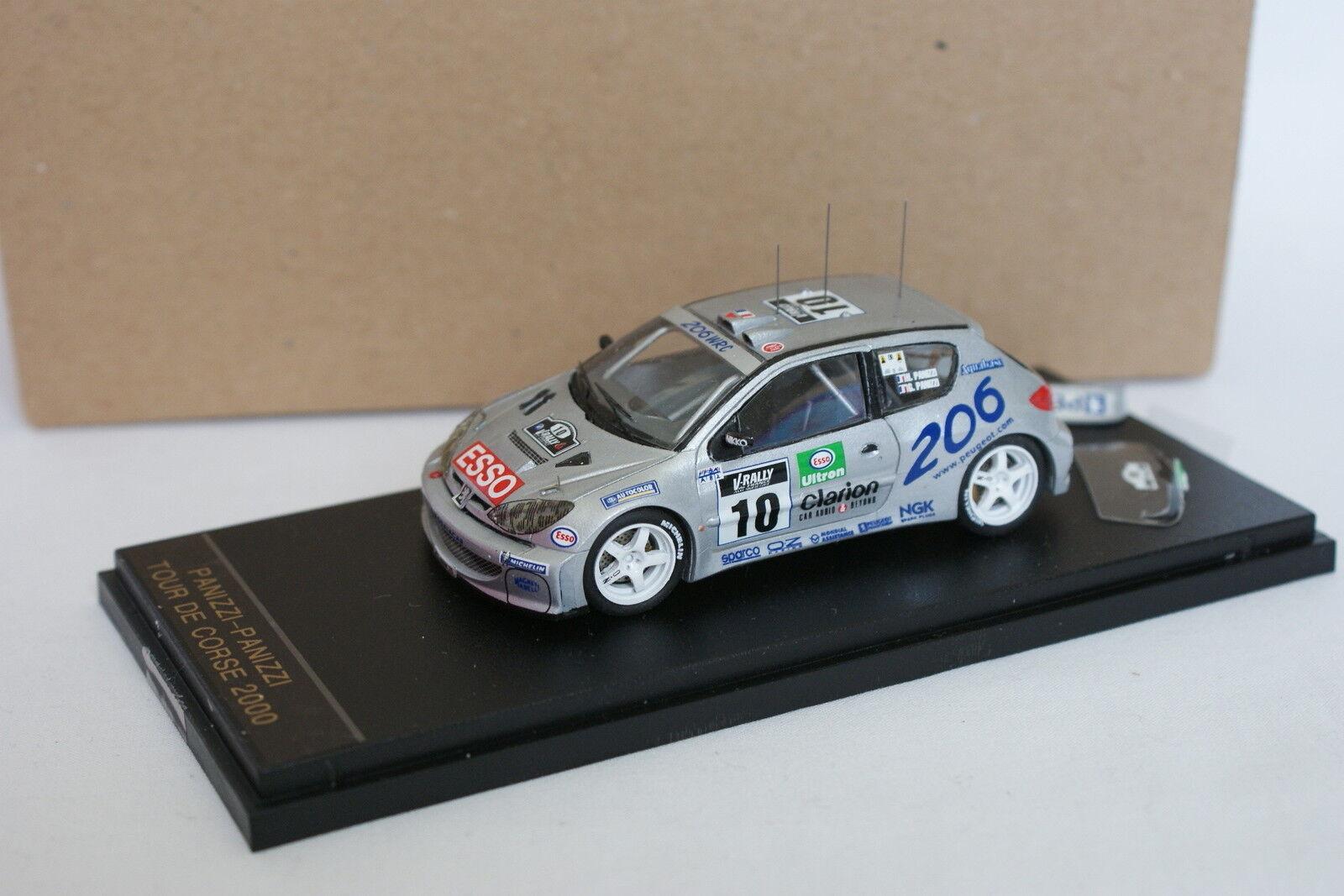 Provence Moulage Kit Monté 1 43 - Peugeot 206 WRC Tour de Corse 2000 N°10