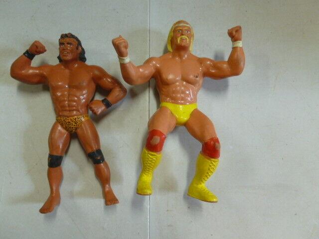 Lot of 2 1984 Titan Hulk Hogan and Jimmy Superfly Snooka Wrestling Figures