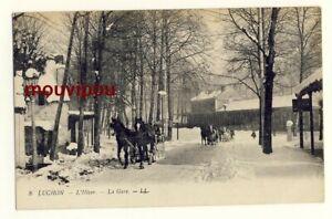 CPA-Luchon-L-039-hiver-La-gare