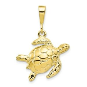 10K Turtle Charm