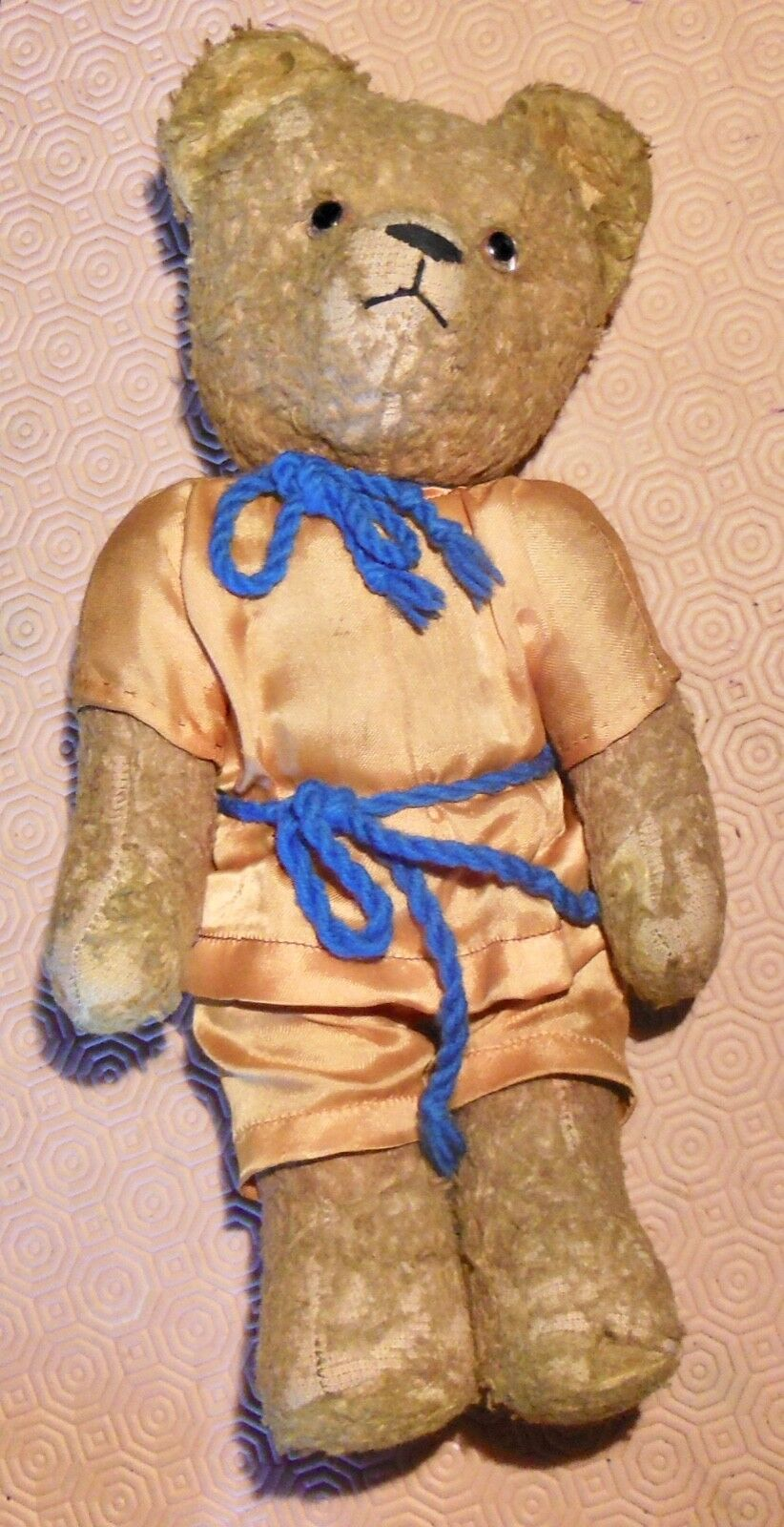 OURS ANCIEN CORPS en PAILLE 1900   1930 ,TEDDY BEAR ETAT D'USAGE VOIR PHOTOS
