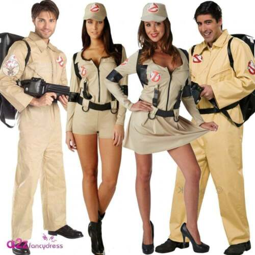 Adult Mens Ladies Ghostbuster Costume Ghostbusters Fancy Dress Outfit Backpack