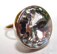 SoHo® Ring mit geschliffenem 18mm Rivoli crystal großer Strassring Kristall