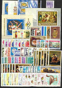 Hungary-1968-Full-year-sets-with-souvenir-sheets-MNH-Mi-95-EUR